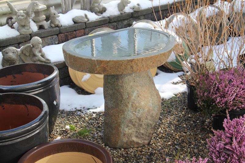 A Large Granite Bird Bath