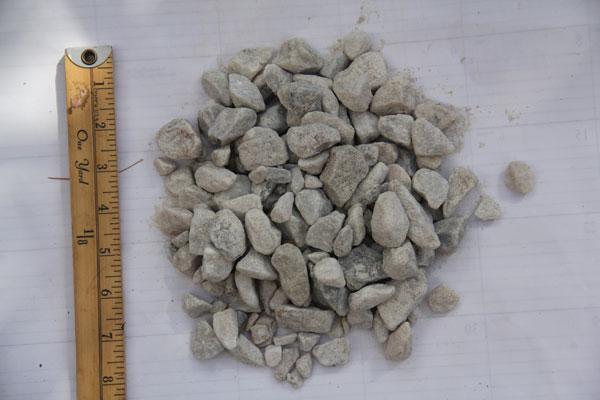 """3/4"""" White Stone"""