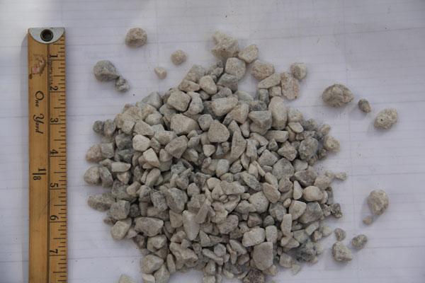 """3/8"""" White Stone"""