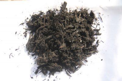 Bulk Black Dyed Hardwood Mulch sample