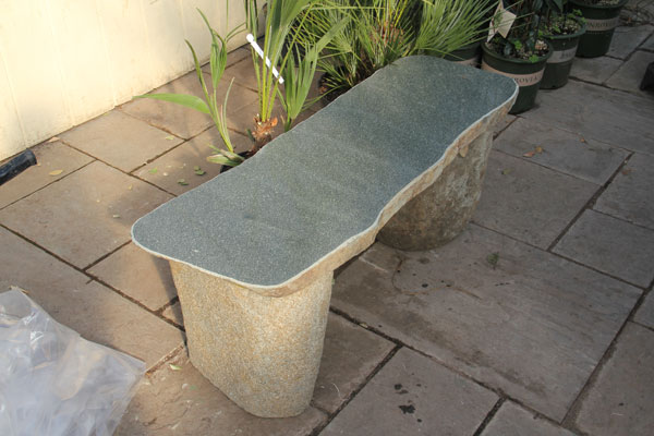 A straight Granite Bench