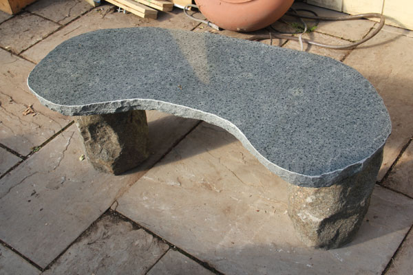 A Curved Granite Bench